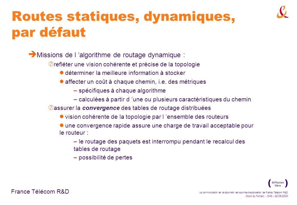 Routes statiques, dynamiques, par défaut