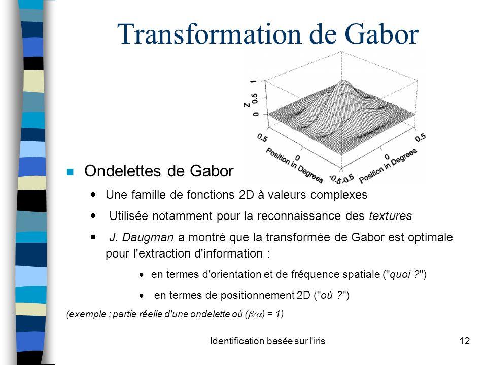 Transformation de Gabor