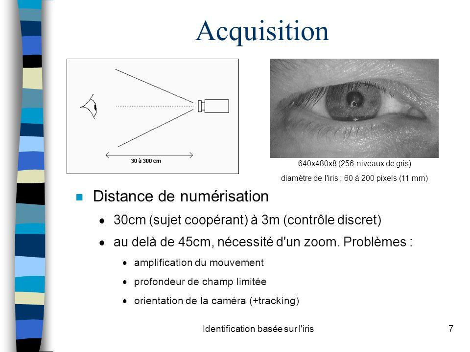 Acquisition Distance de numérisation