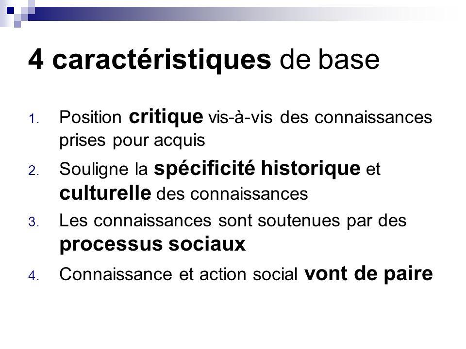 4 caractéristiques de base