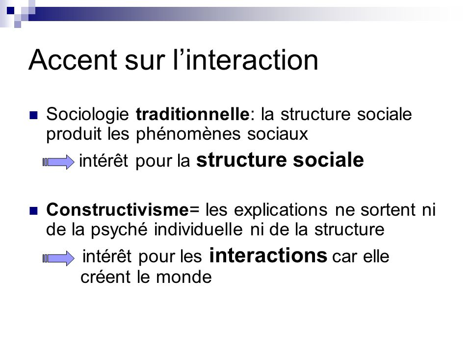 Accent sur l'interaction