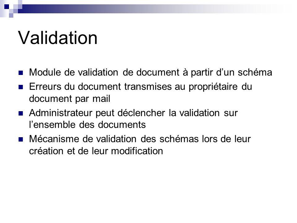 Validation Module de validation de document à partir d'un schéma