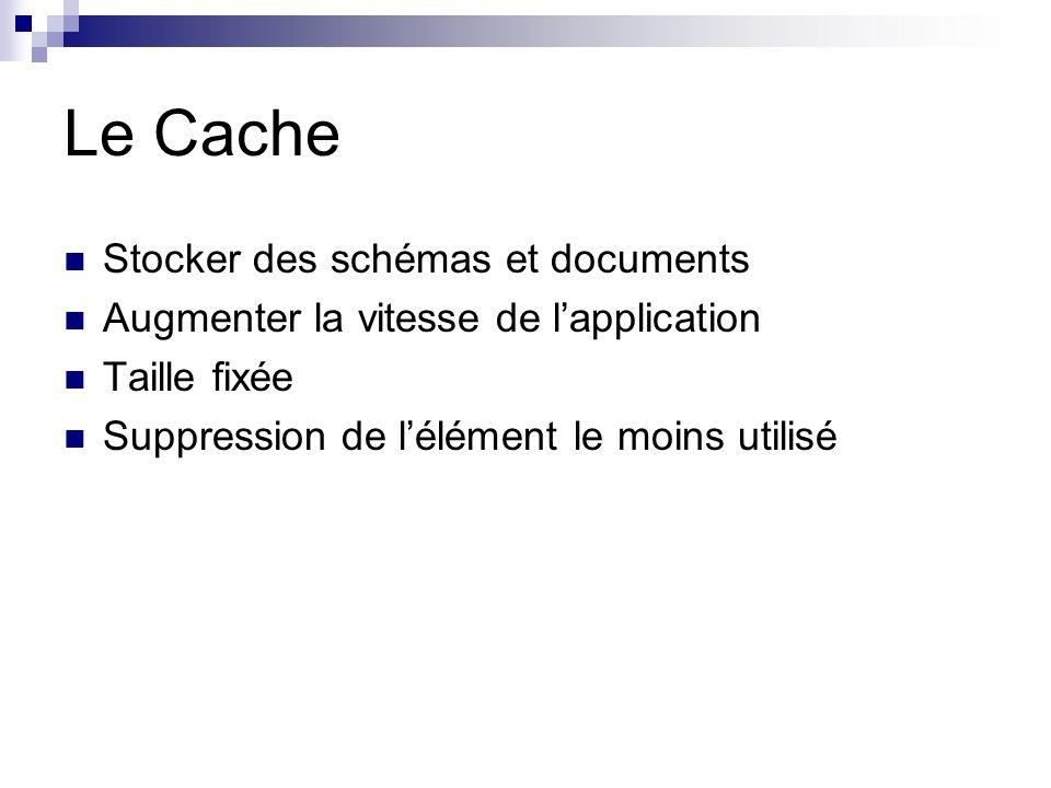 Le Cache Stocker des schémas et documents
