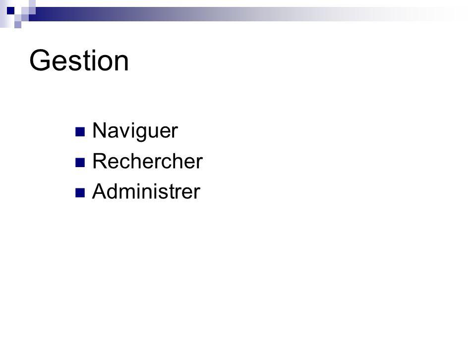 Gestion Naviguer Rechercher Administrer