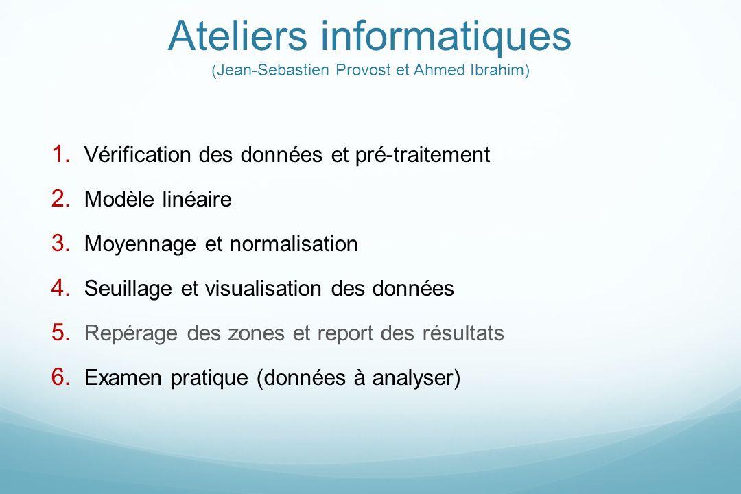 Ateliers informatiques (Jean-Sebastien Provost et Ahmed Ibrahim)