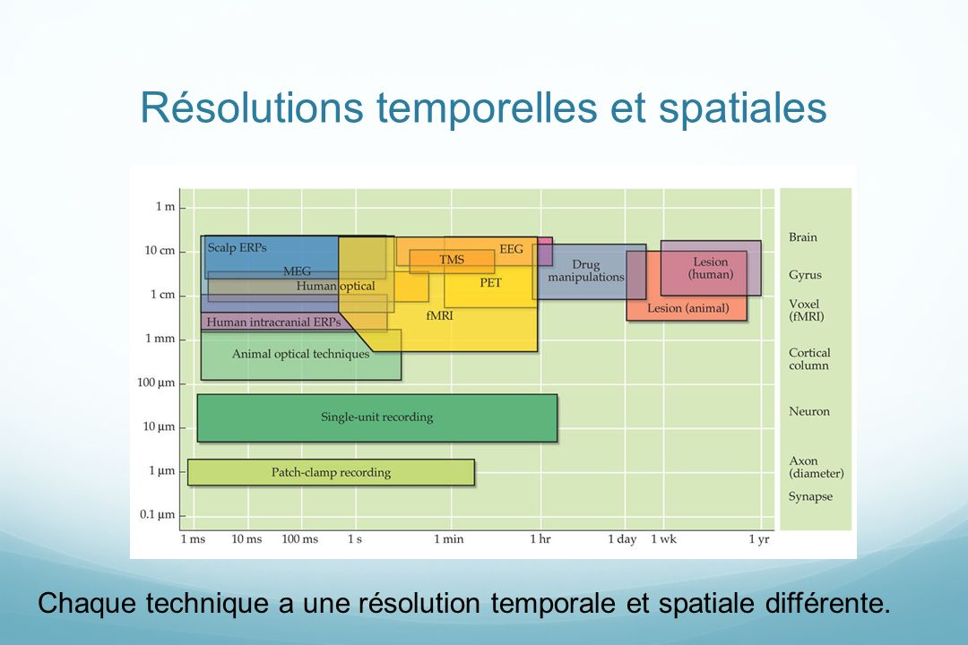Résolutions temporelles et spatiales