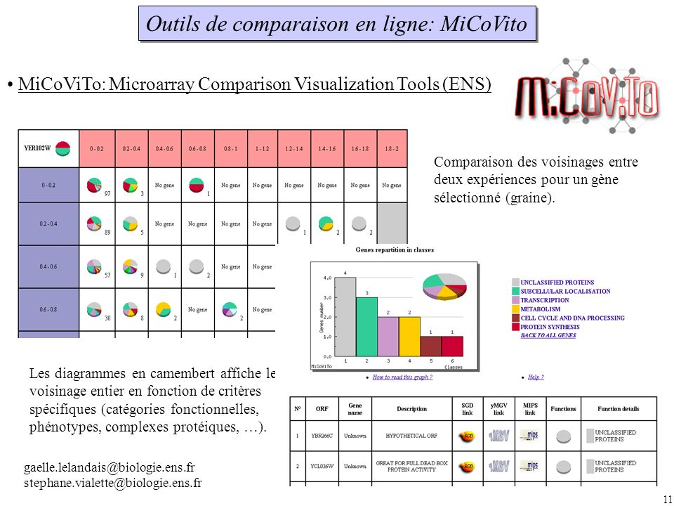 Outils de comparaison en ligne: MiCoVito