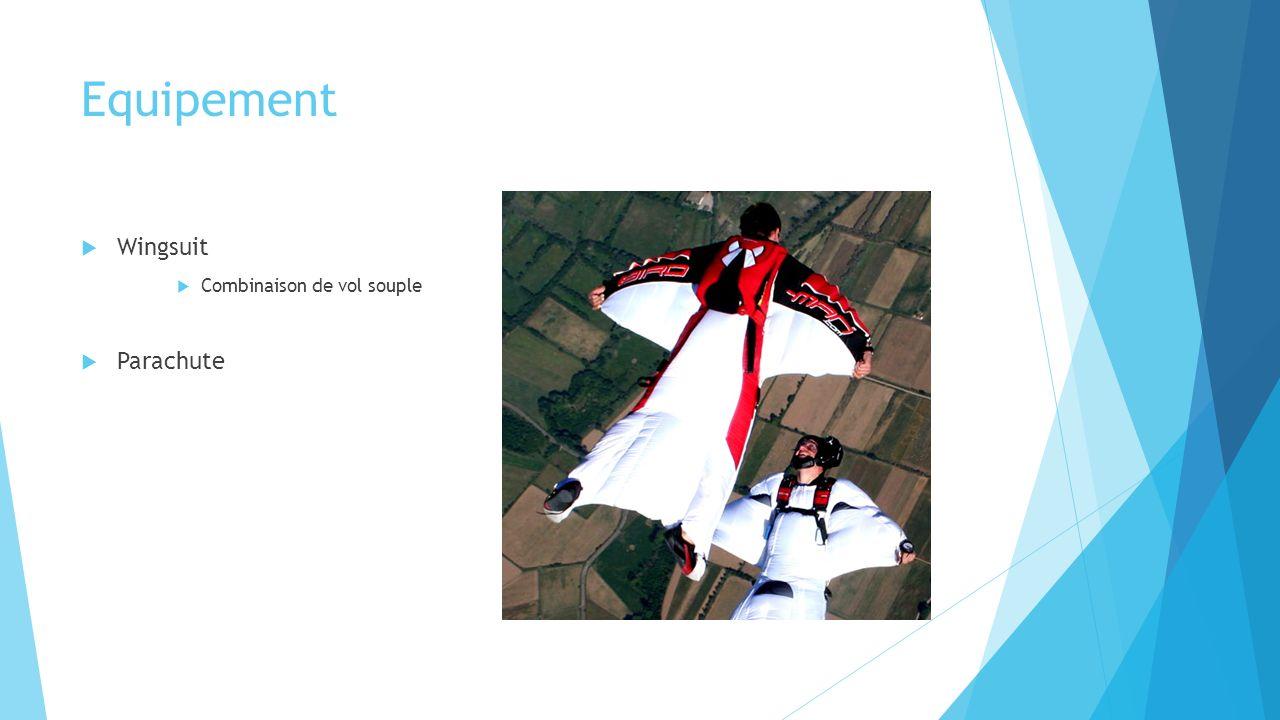 Equipement Wingsuit Combinaison de vol souple Parachute