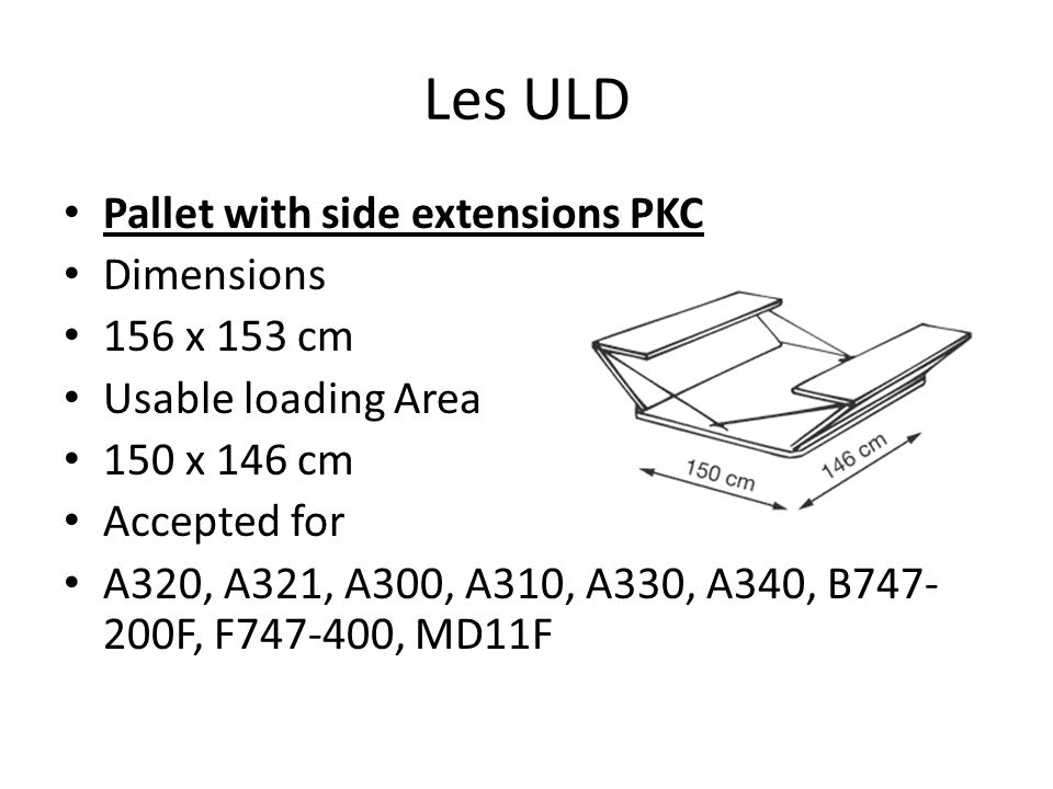 Les ULD Pallet with side extensions PKC Dimensions 156 x 153 cm