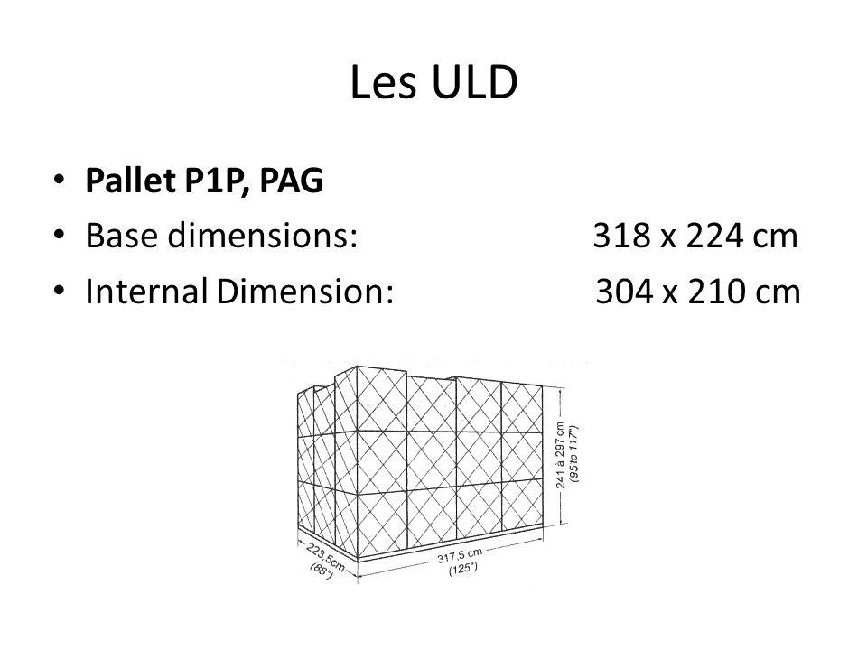 Les ULD Pallet P1P, PAG Base dimensions: 318 x 224 cm
