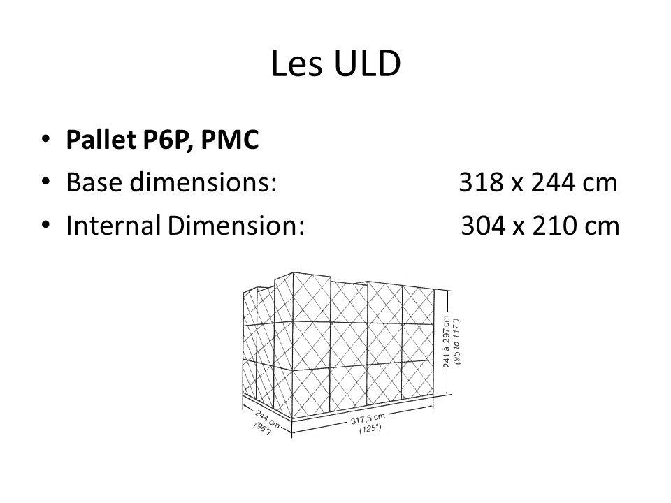 Les ULD Pallet P6P, PMC Base dimensions: 318 x 244 cm