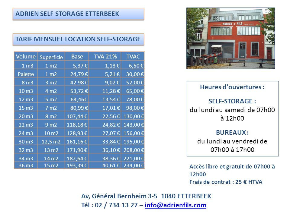 ADRIEN SELF STORAGE ETTERBEEK