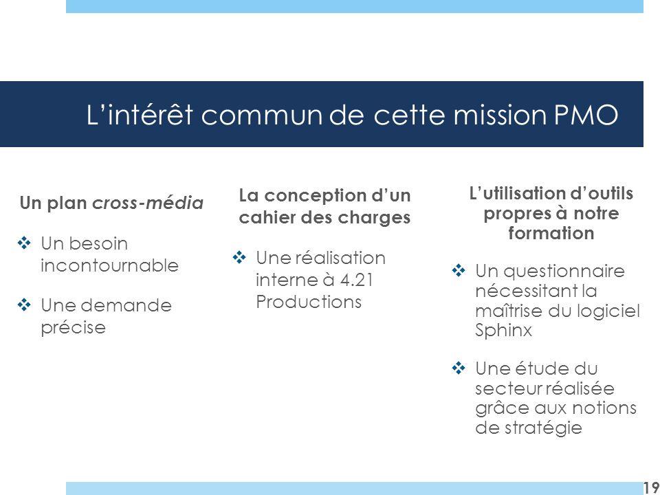 L'intérêt commun de cette mission PMO