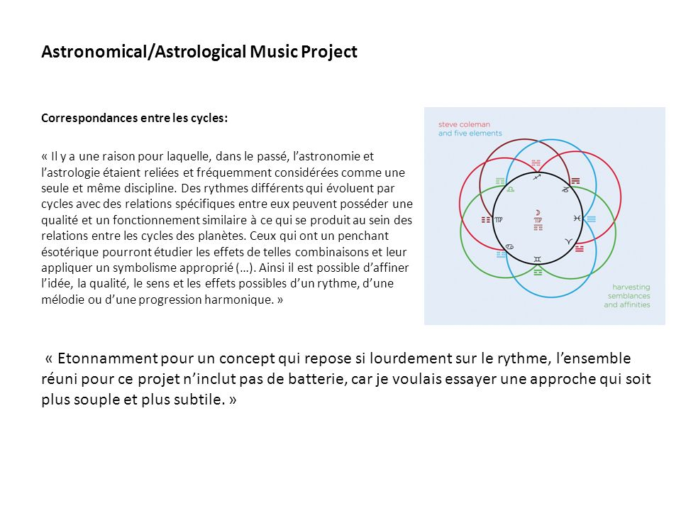 Astronomical/Astrological Music Project