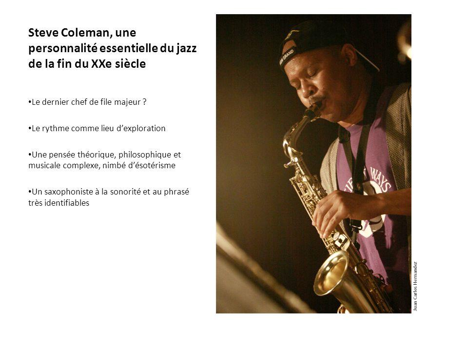 Steve Coleman, une personnalité essentielle du jazz de la fin du XXe siècle