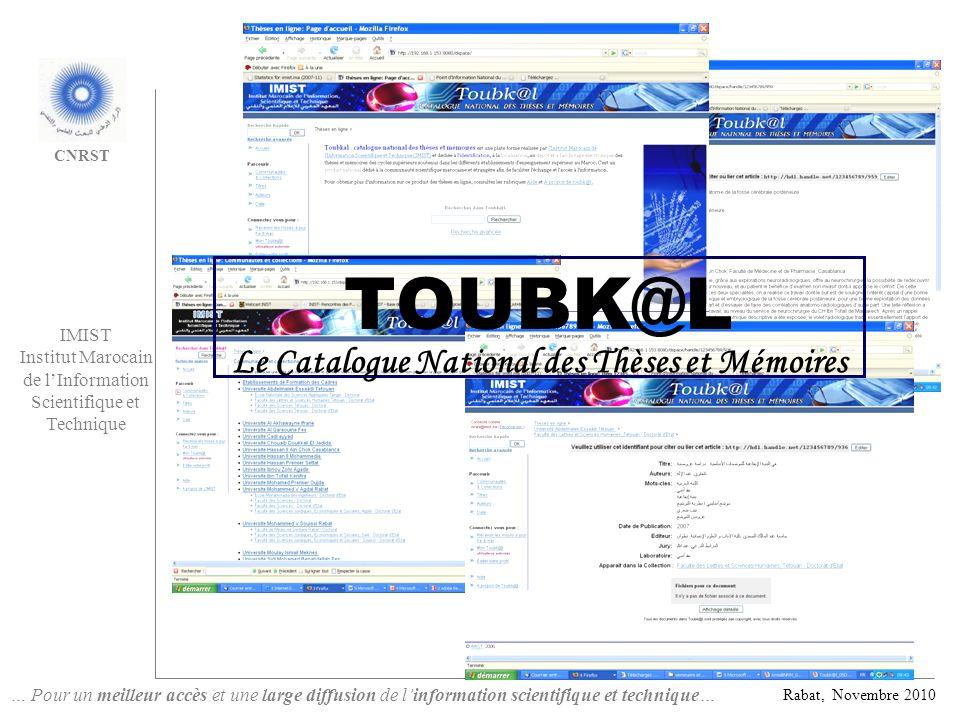 Le Catalogue National des Thèses et Mémoires