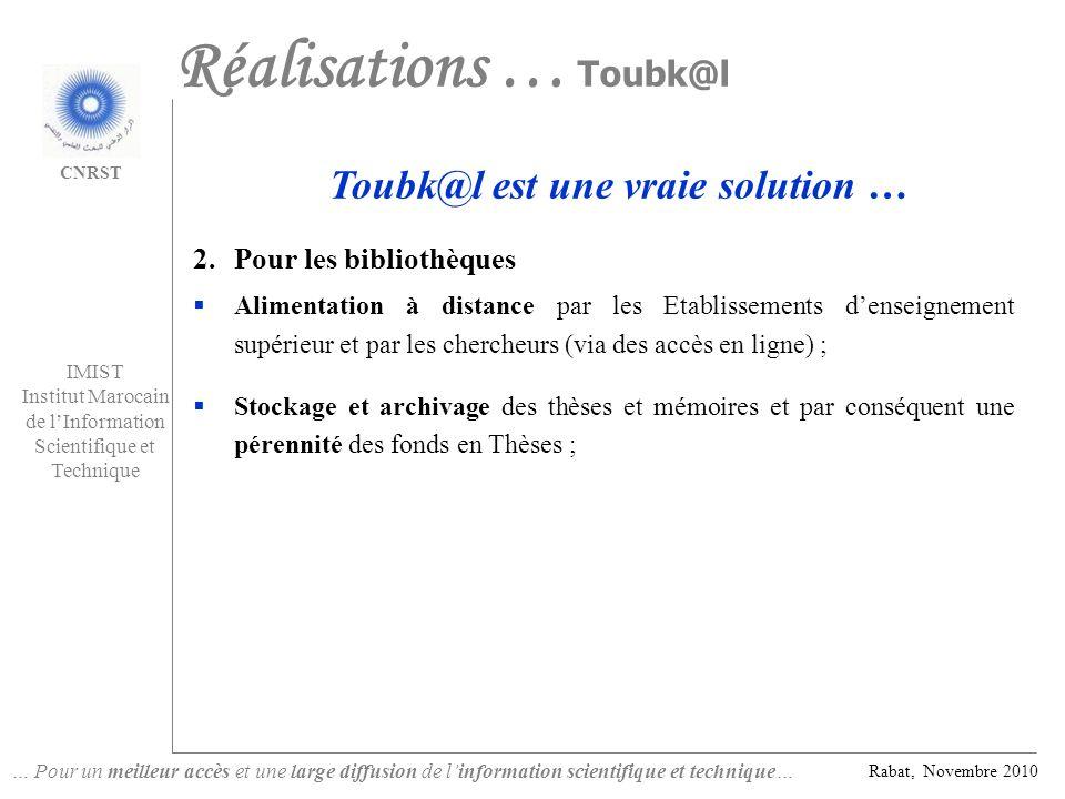 Toubk@l est une vraie solution …