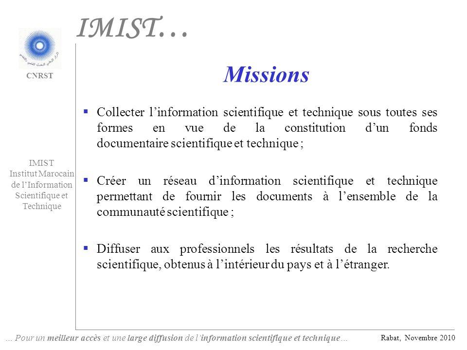 IMIST… Missions.