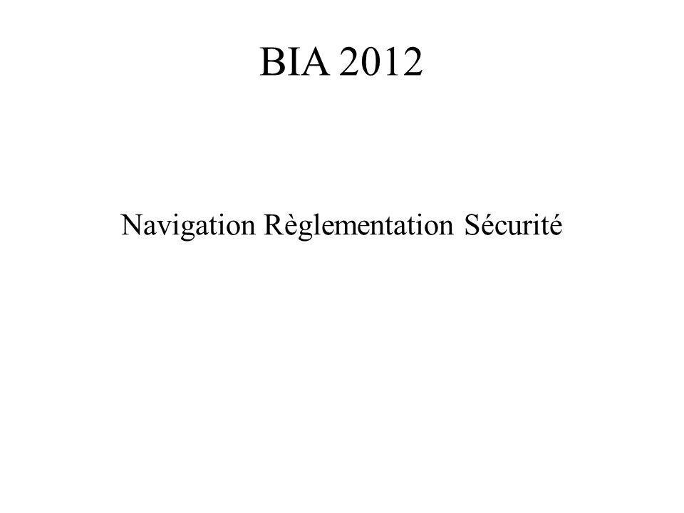 Navigation Règlementation Sécurité