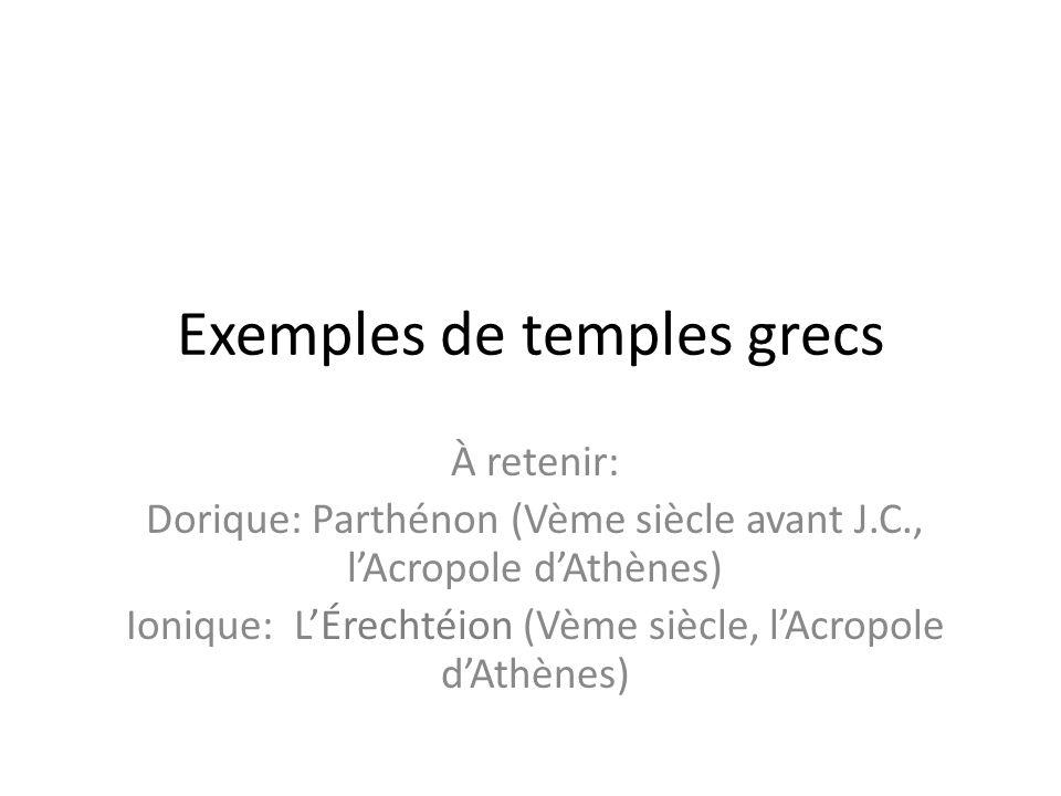 Exemples de temples grecs