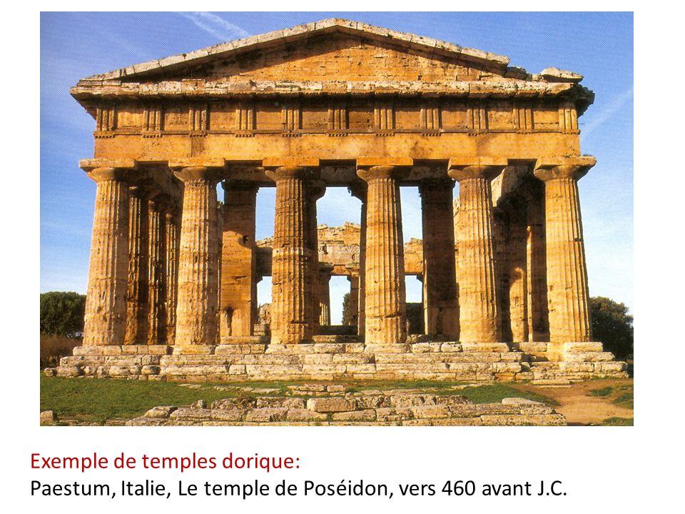 Exemple de temples dorique: Paestum, Italie, Le temple de Poséidon, vers 460 avant J.C.