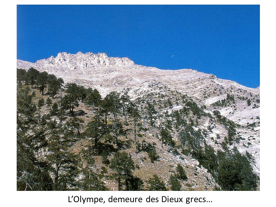 L'Olympe, demeure des Dieux grecs…