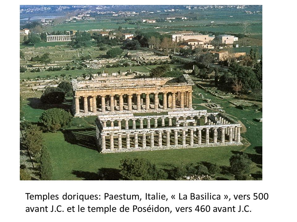 Temples doriques: Paestum, Italie, « La Basilica », vers 500 avant J.C.