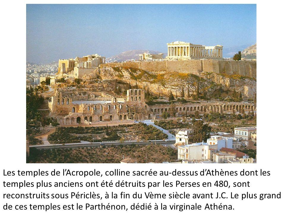 le Parthénon, dédié à la virginale Athènes, Athéna Parthénos.