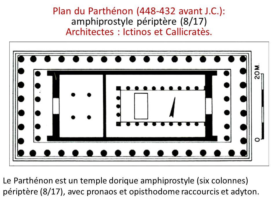 Plan du Parthénon (448-432 avant J. C