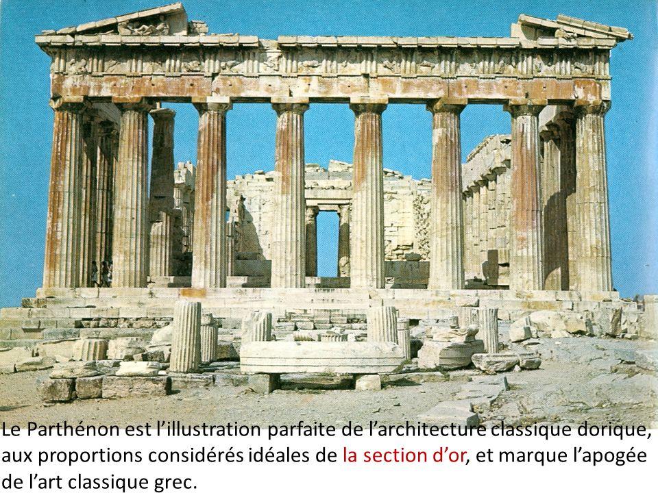 Le Parthénon, Vème siècle avant J.C., la façade est
