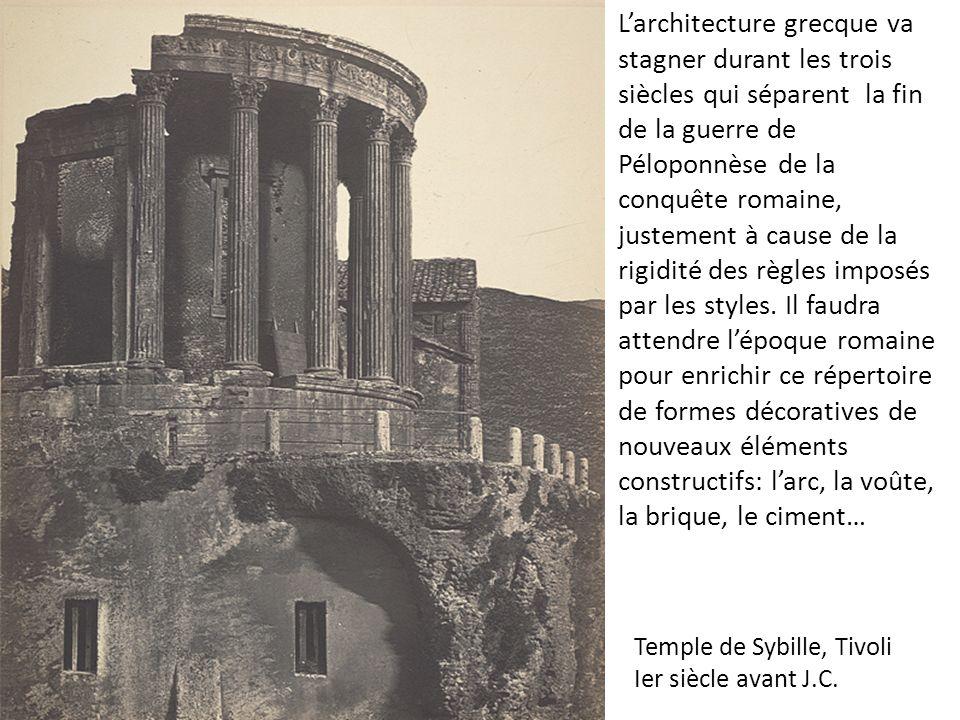 Temple de Sybille, Tivoli Ier siècle avant J.C.