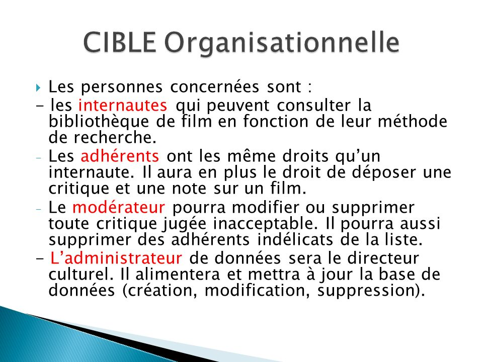 CIBLE Organisationnelle