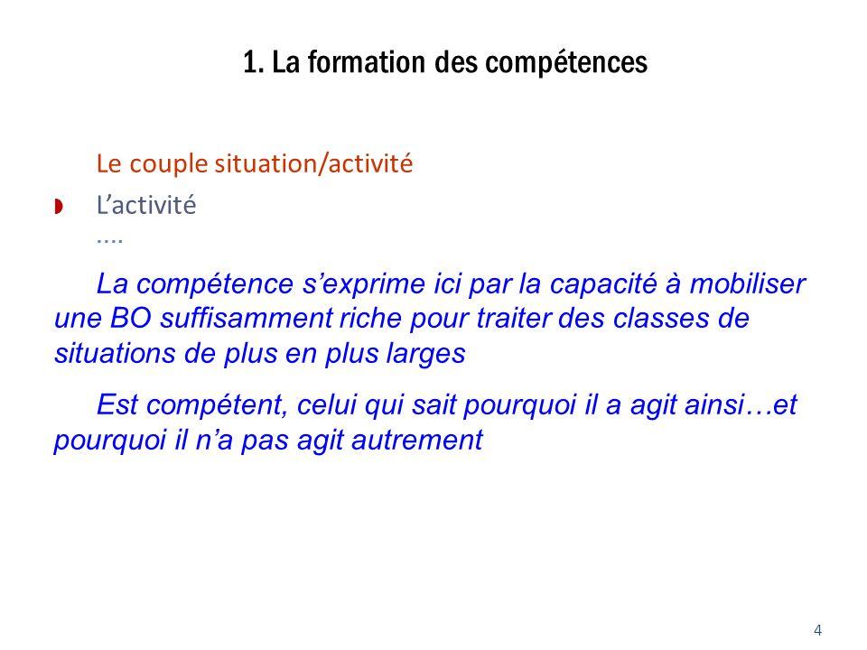 1. La formation des compétences