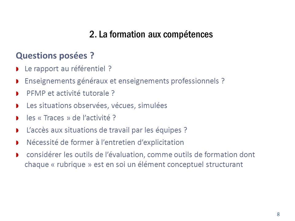 2. La formation aux compétences