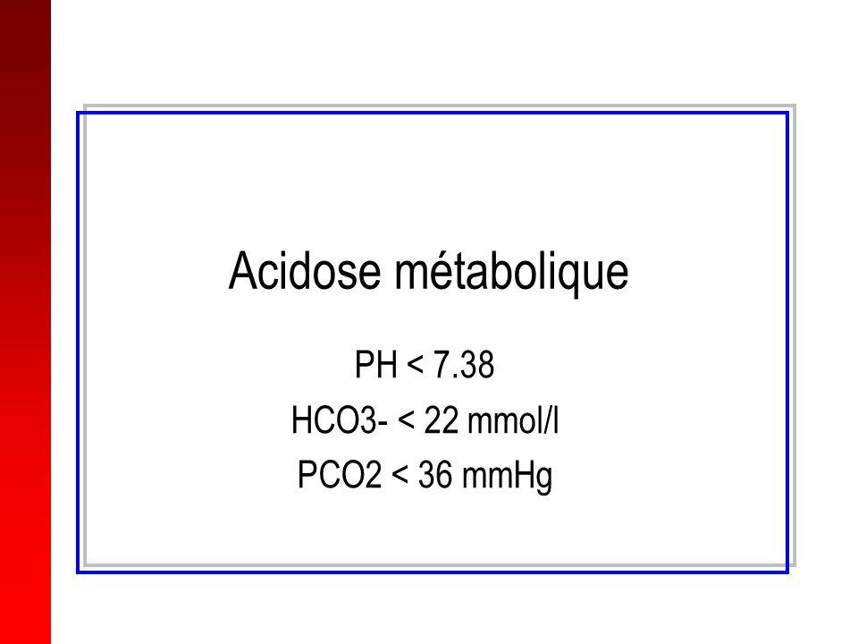 PH < 7.38 HCO3- < 22 mmol/l PCO2 < 36 mmHg