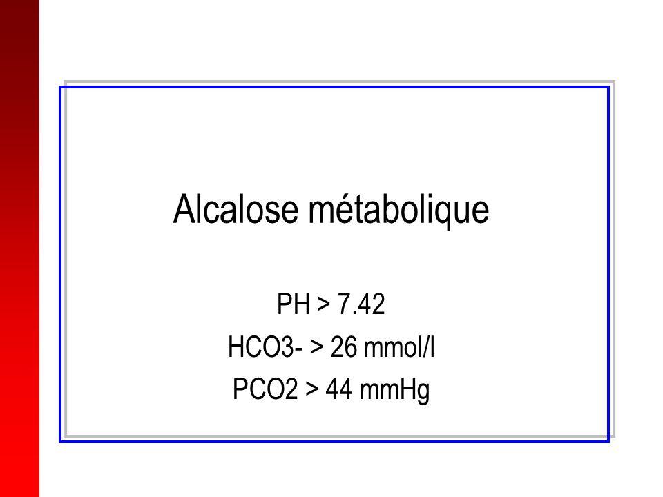 PH > 7.42 HCO3- > 26 mmol/l PCO2 > 44 mmHg
