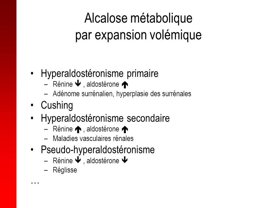 Alcalose métabolique par expansion volémique