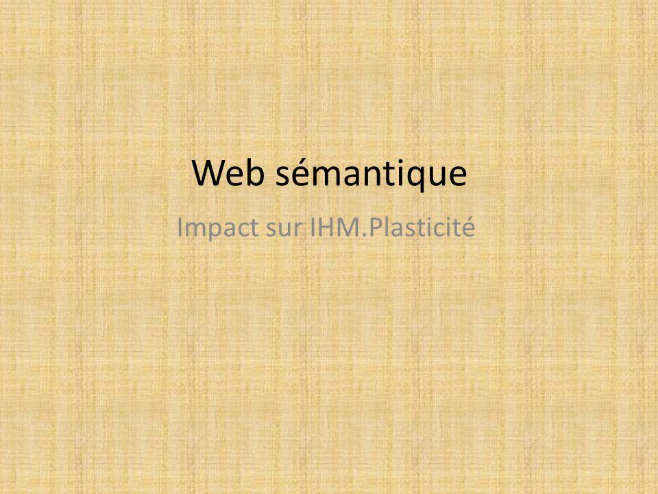 Impact sur IHM.Plasticité