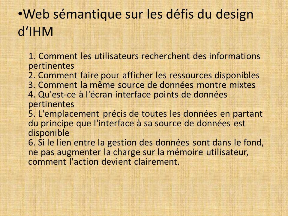 Web sémantique sur les défis du design d'IHM