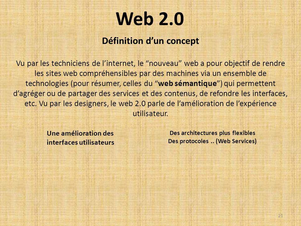 Web 2.0 Définition d'un concept