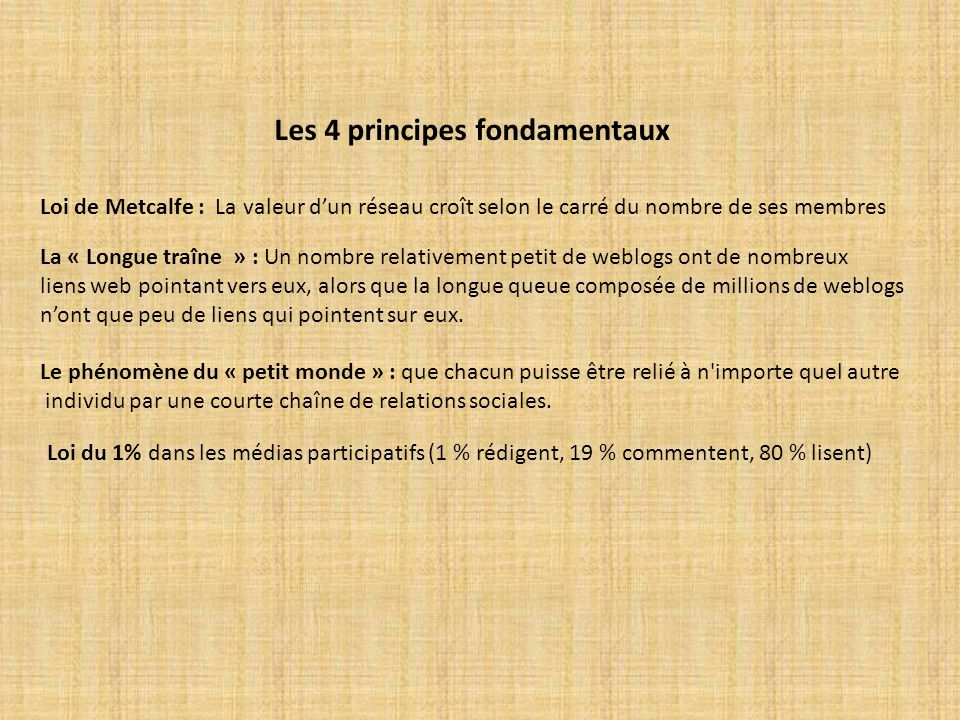 Les 4 principes fondamentaux