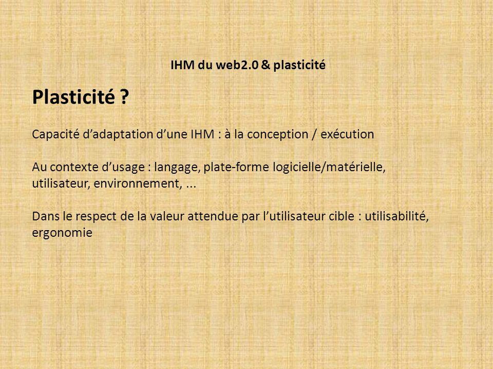Plasticité IHM du web2.0 & plasticité