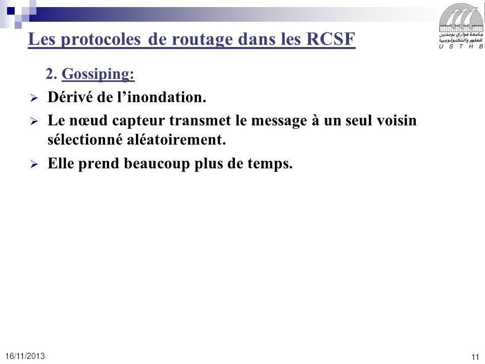 Les protocoles de routage dans les RCSF