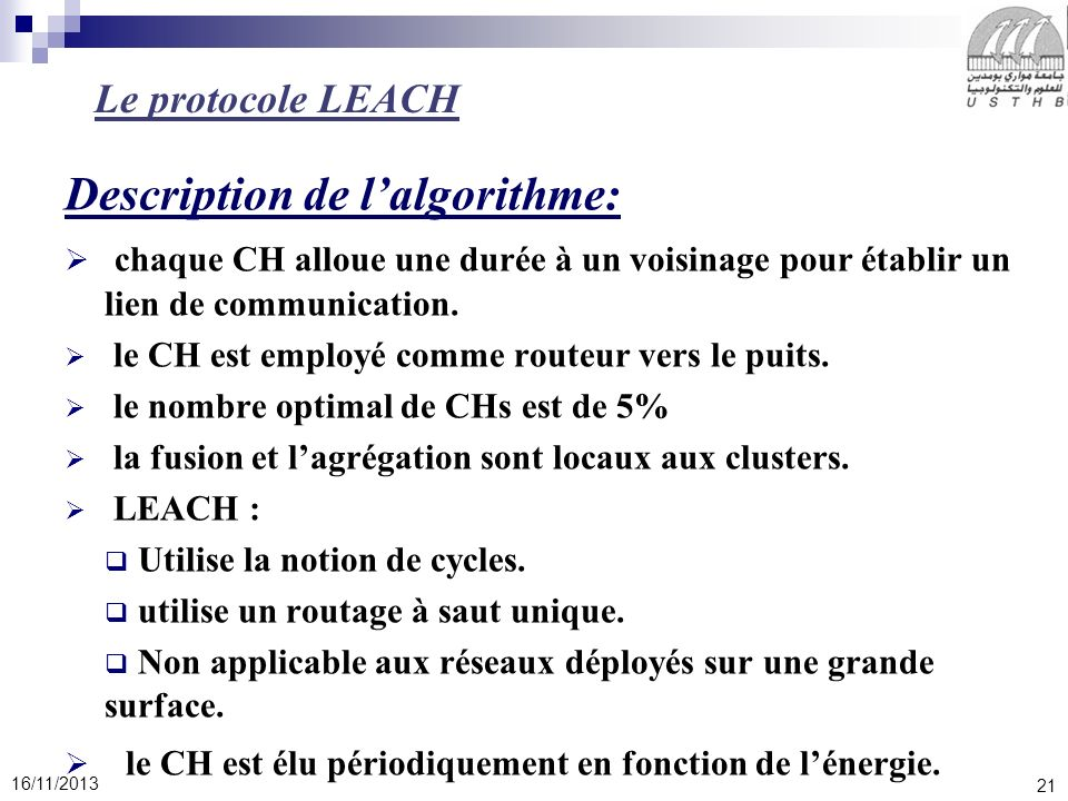 Description de l'algorithme: