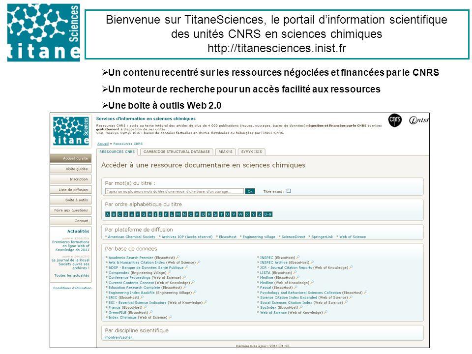 Bienvenue sur TitaneSciences, le portail d'information scientifique