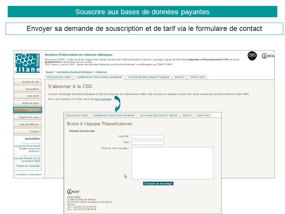 Souscrire aux bases de données payantes