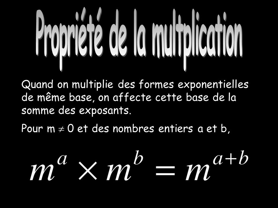 Propriété de la multiplication
