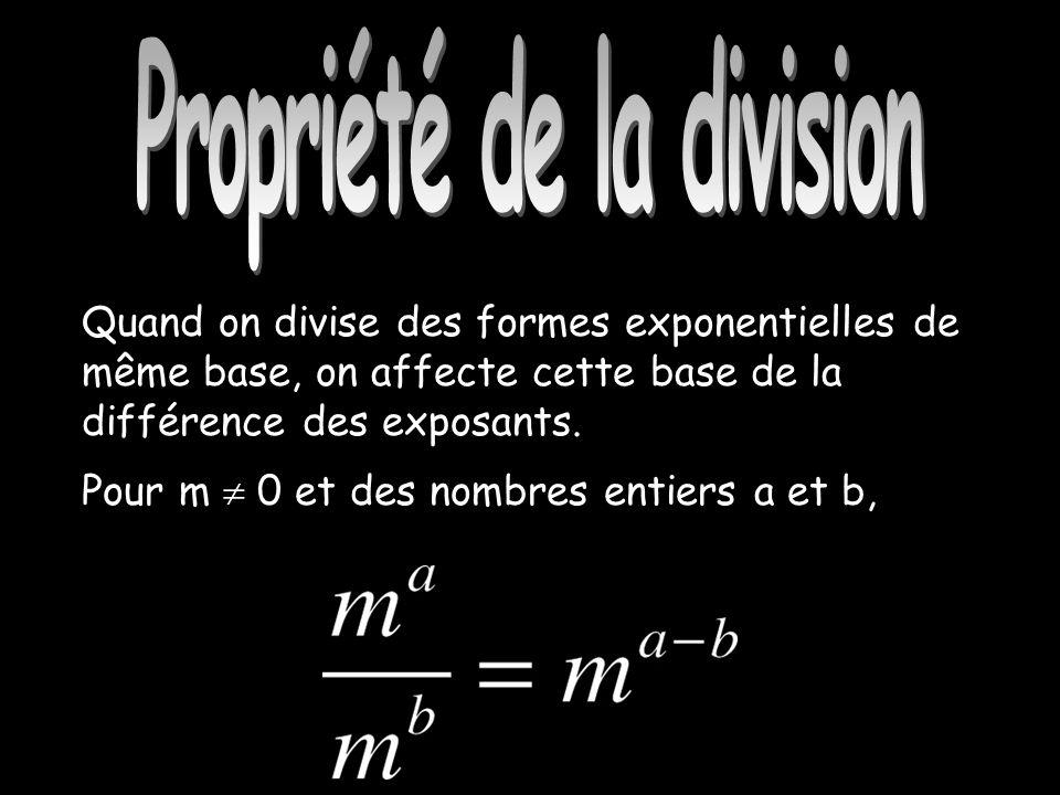 Propriété de la division