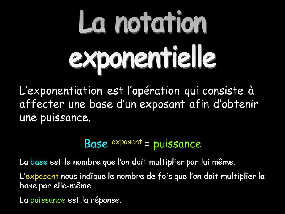 La notation exponentielle