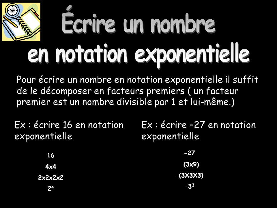 Écrire un nombre en notation exponentielle